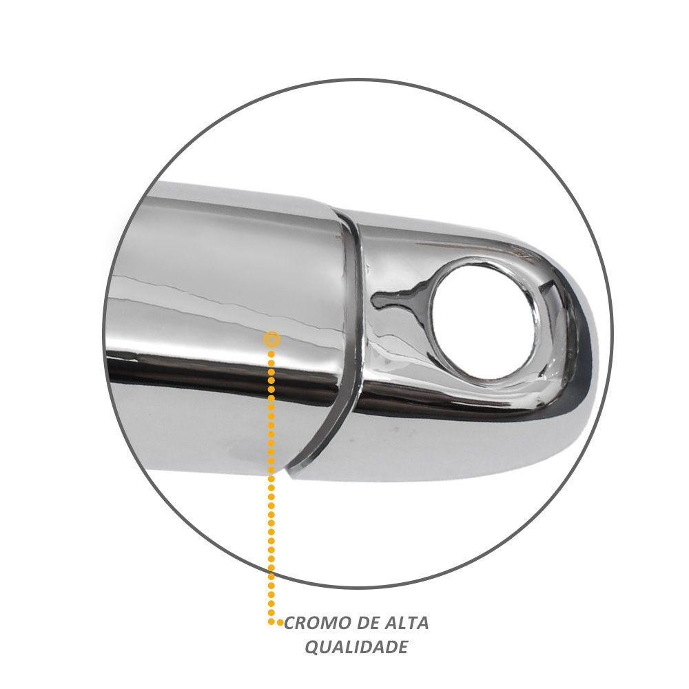 Aplique Capa de Maçaneta Fiat Toro 2016 a 2019 Cromada