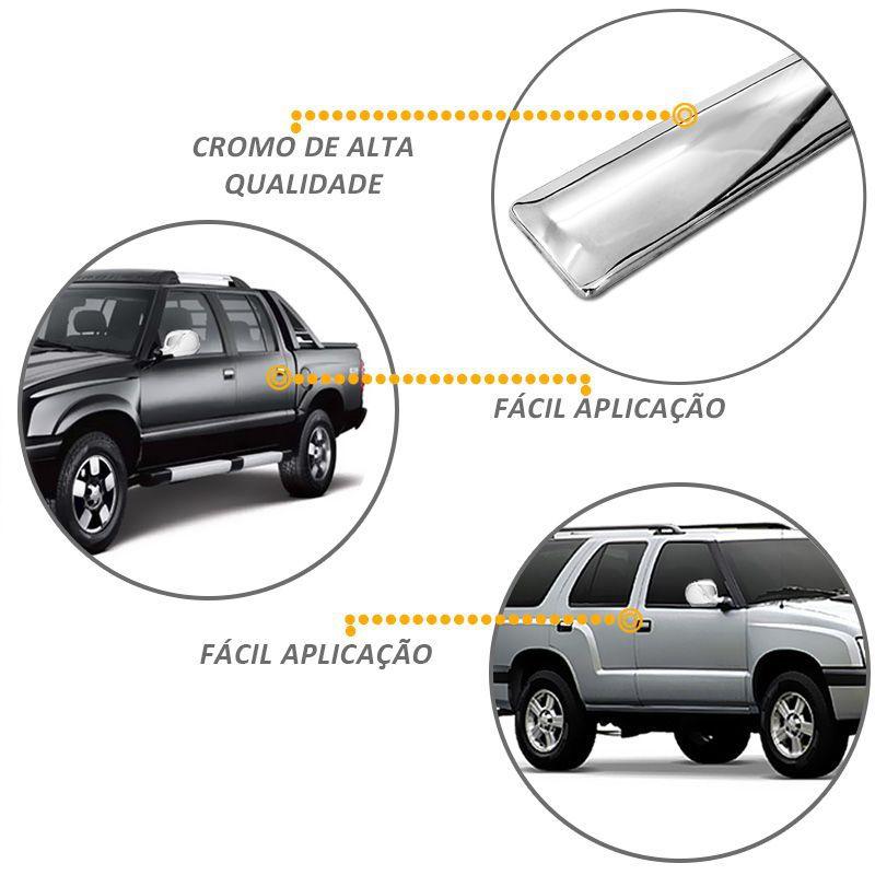 Aplique de Maçaneta Chevrolet S10 Blazer 1995 a 2011 Cromado