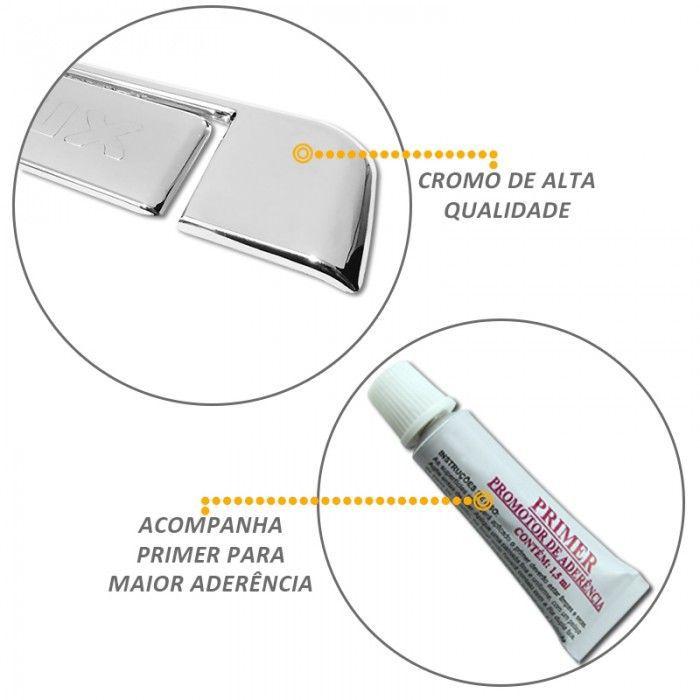 Capa de Maçaneta Traseira Hilux 2005 a 2011 Cromada
