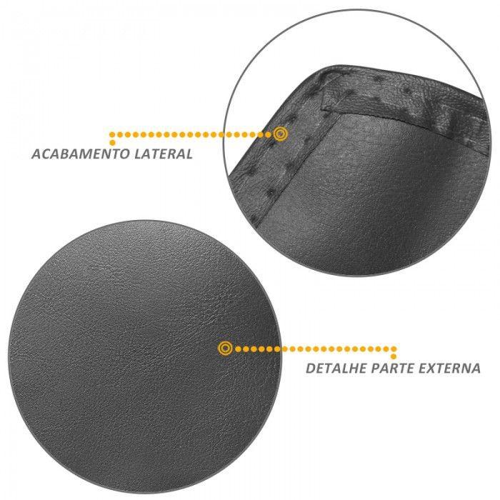 Capa Assoalho em Vinil Grafite Hilux CD 2005 2013 C/Console