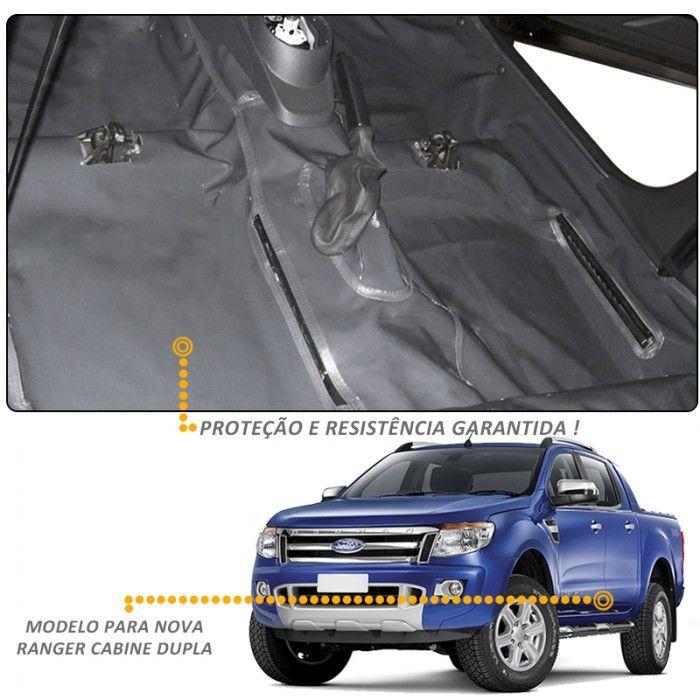 Capa Assoalho Ford Ranger CD 2012 a 2018 Vinil Grafite
