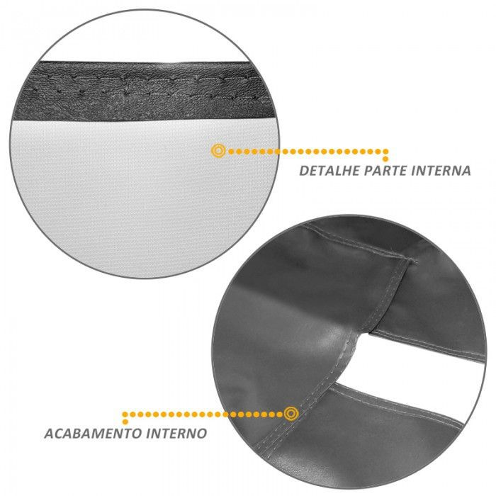 Capa Assoalho S10 CD 2012 a 2019 C/Console em Vinil Grafite