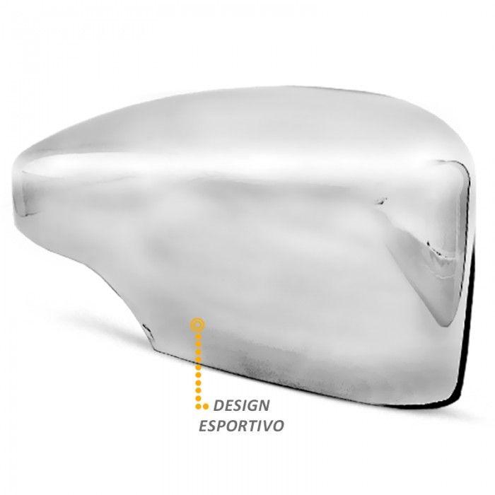 Aplique de Retrovisor Ecosport 2013 a 2019 Cromado LD