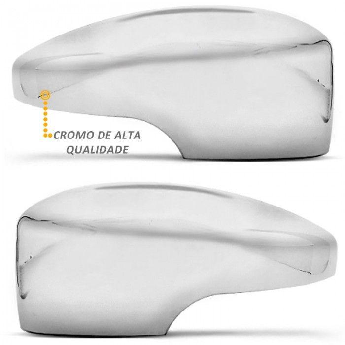 Par Aplique de Retrovisor Cromado Ecosport 2013 em Diante