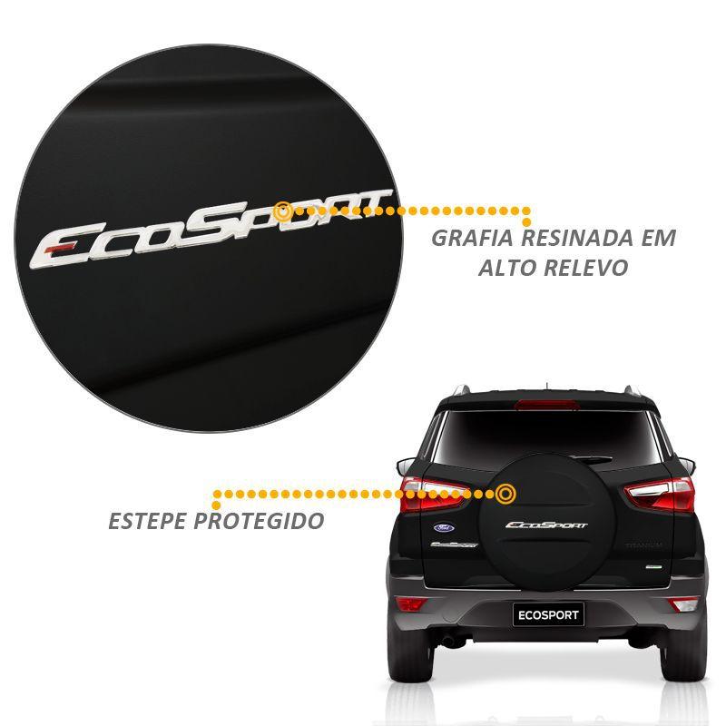 Capa Estepe Ecosport 2013/2017 Abs Rígida Preto Ebony