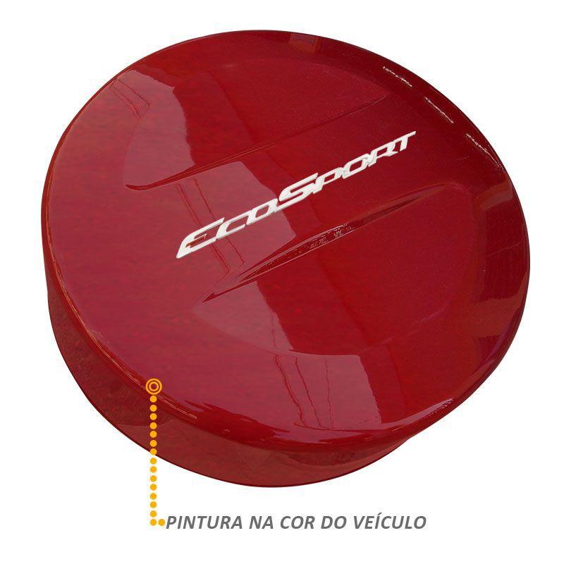 Capa Estepe Ecosport 2013/2017 Abs Rígida Vermelho Merlot