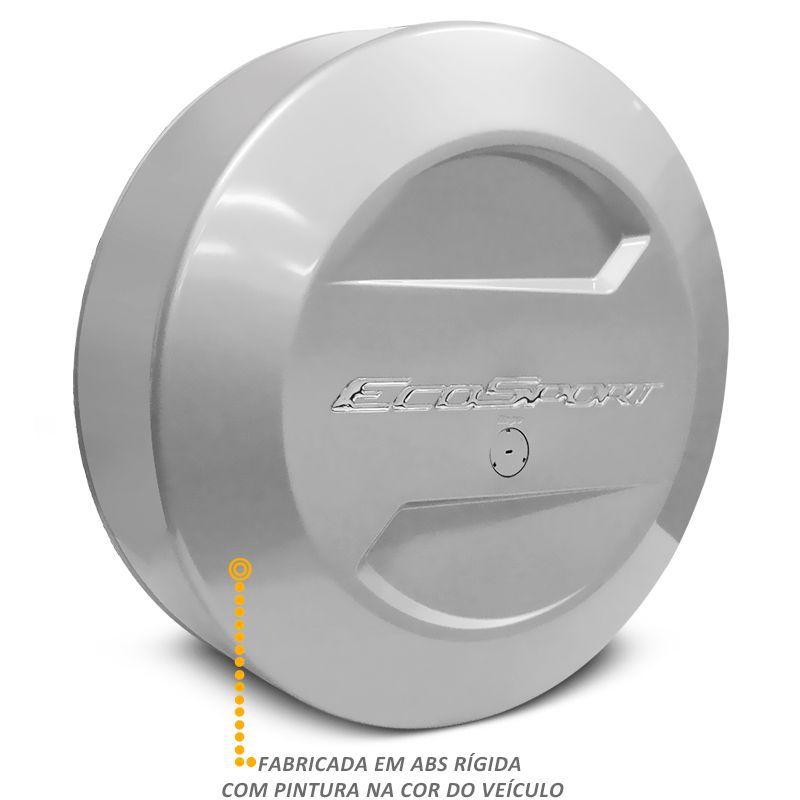 Capa De Estepe Ford Ecosport 2003 a 2017 Prata Enseada Bepo