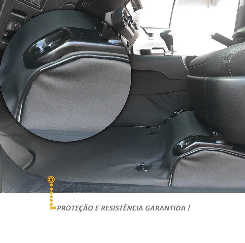 Capa Protetora Assoalho Renault Kwid 2017 2018 Grafite Vinil