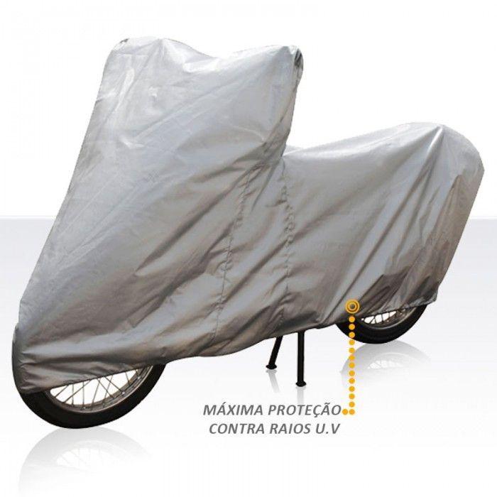 Capa Protetora Cobrir Moto Lisa Sem Forro Tamanho Pequena