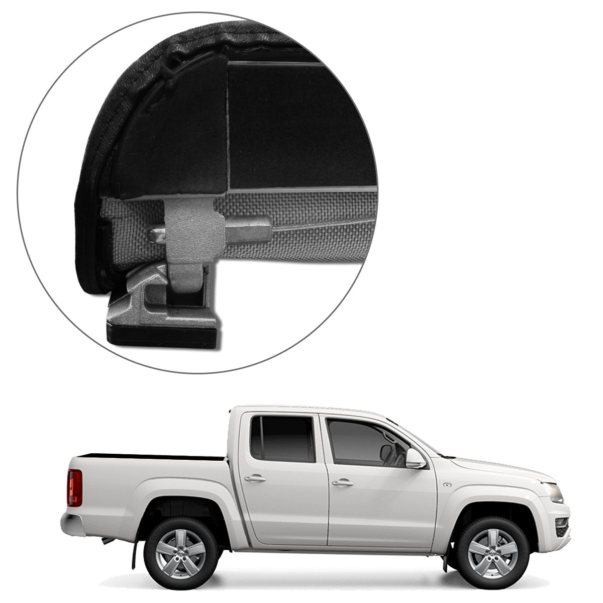 Capota Maritima Amarok CD 2010 a 2021 Trek Aluminio Flash Force