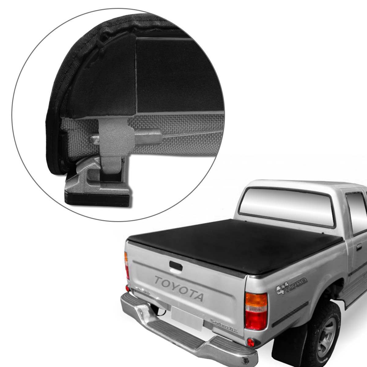 Capota Maritima Hilux CD 1995 a 2004 Trek Force Aluminio