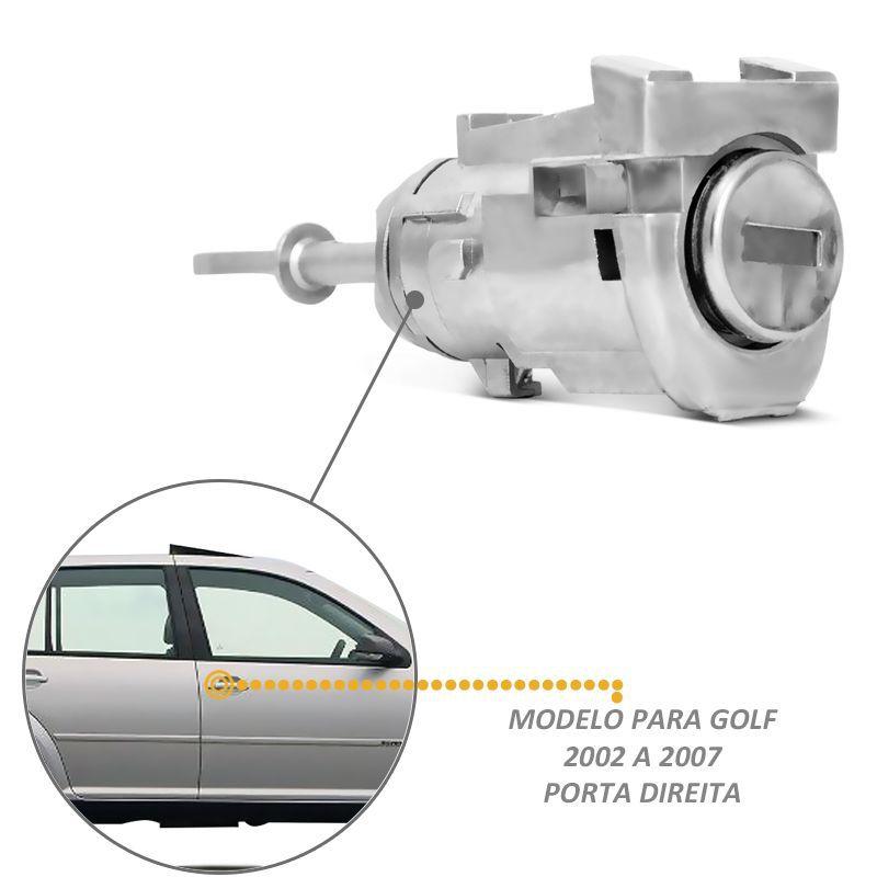 Cilindro Porta Golf Bora Fox Crossfox  Spacefox Dianteira LD Chave