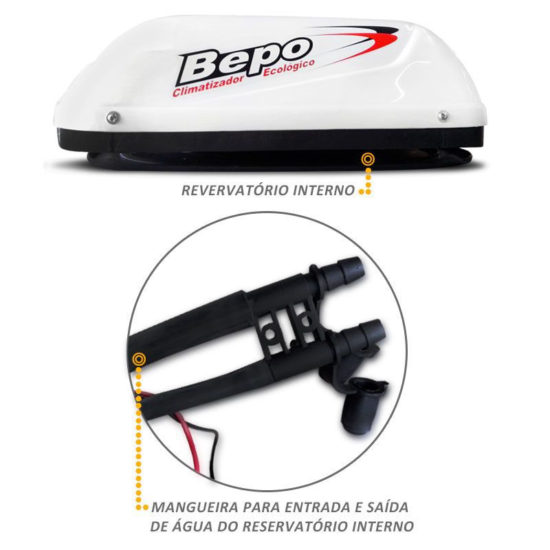 Climatizador Ar Bepo 12V Ford Cargo Mercedes Benz Re Interno