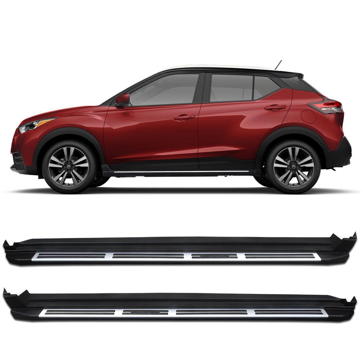 Estribo Lateral Nissan Kicks 2017 a 2019 Preto Modelo Original