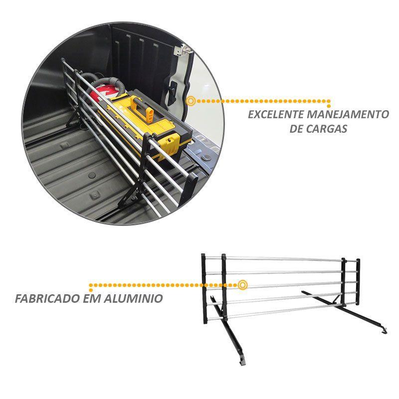 Divisor Cargas Caçamba Fiat Toro 2016 a 2018 em Aluminio
