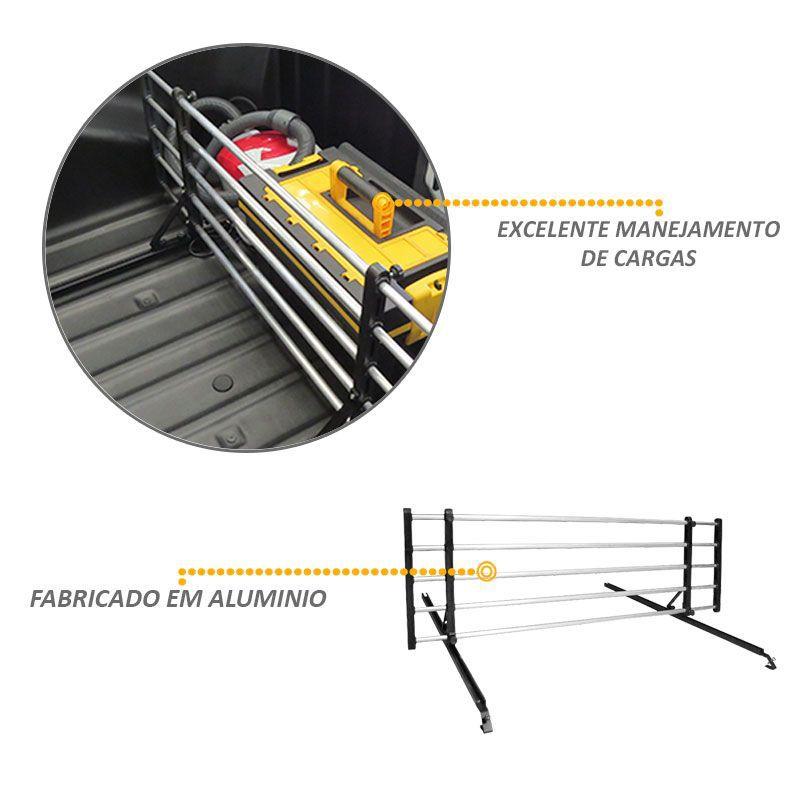 Divisor De Cargas para Caçamba em Alumínio Pick-up