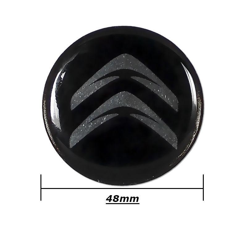 Emblema Adesivo Roda Esportiva Calota Resinado 48mm Citroen
