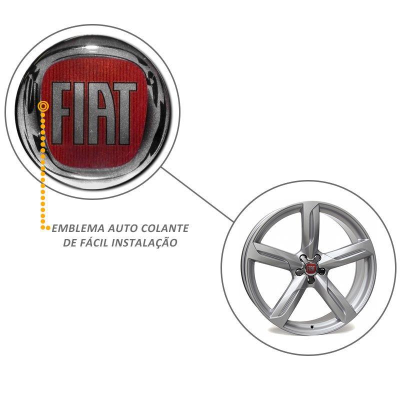 Emblema Adesivo Roda Esport Calota Resinado 48mm Fiat Mod 02
