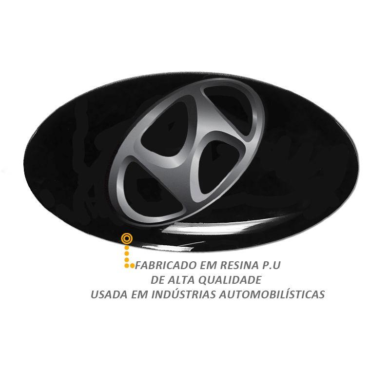 Emblema Adesivo Roda Esportiva Calota Resinado 48mm Hyundai