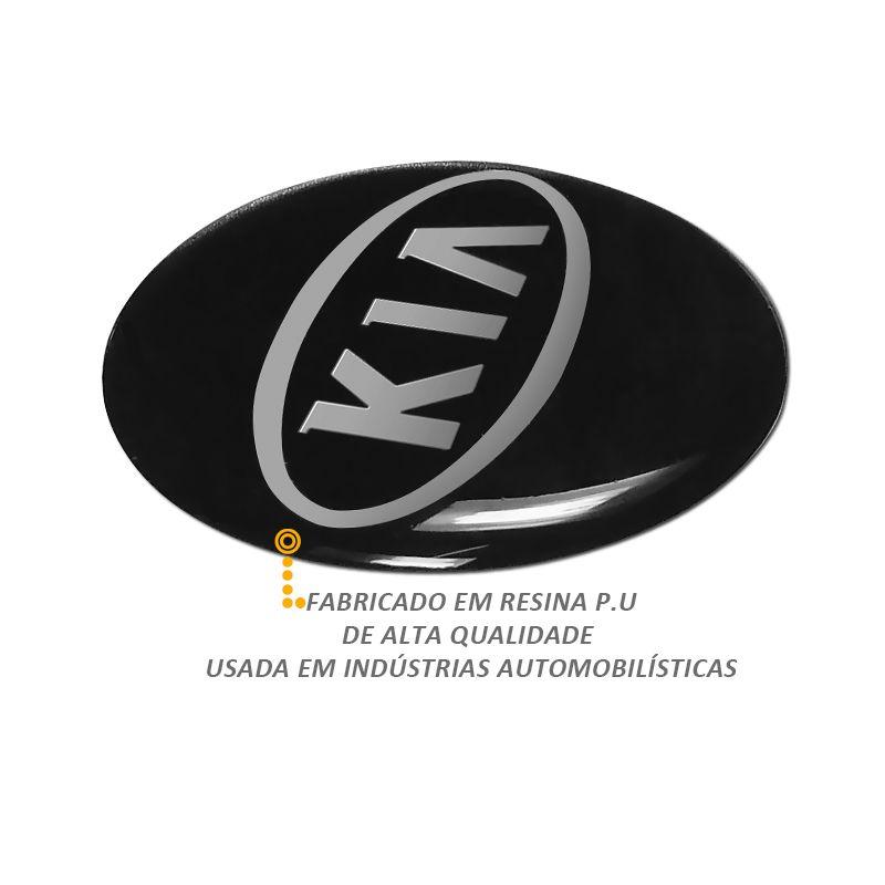 Emblema Adesivo Roda Esportiva Calota Resinado 48mm Kia