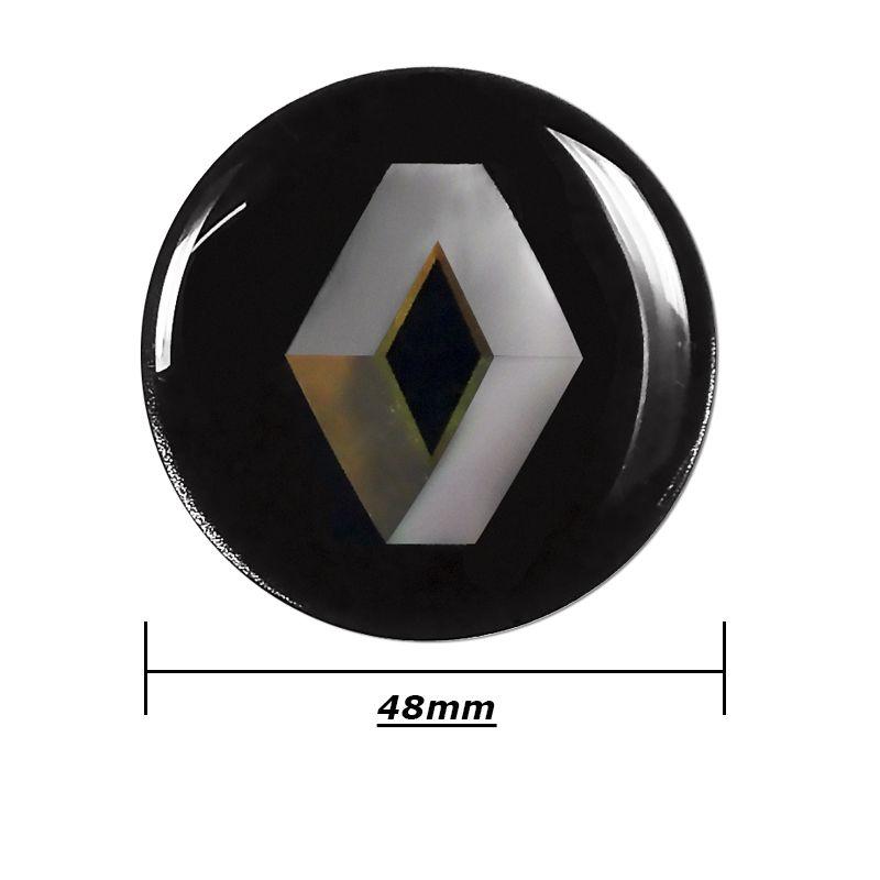 Emblema Adesivo Roda Esportiva Calota Resinado 48mm Renault
