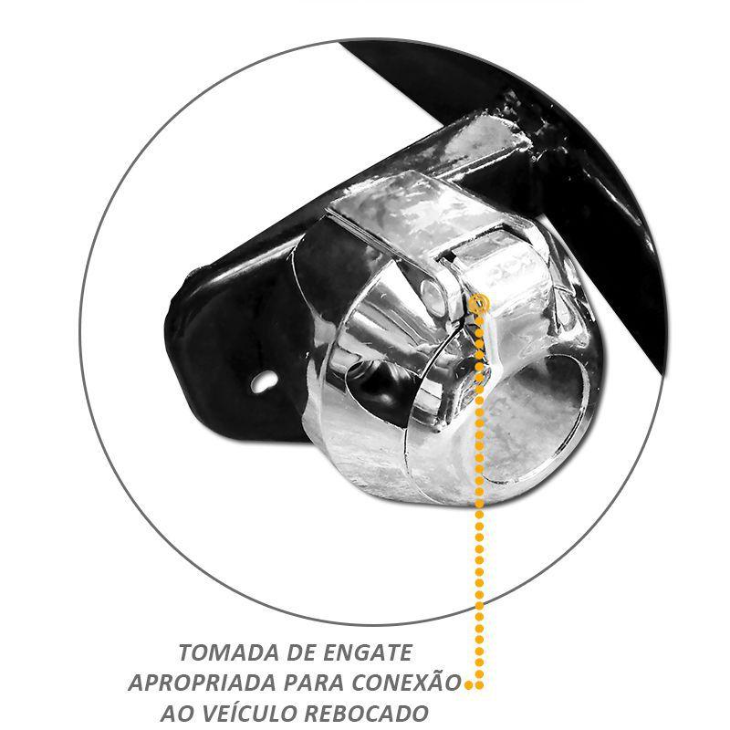 Engate Reboque Fixo Aço Carbono Sandero 2008 a 2013 700kg