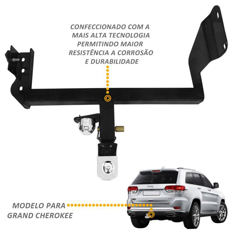 Engate Reboque Removivel Grand Cherokee 2013...Complet 700kg