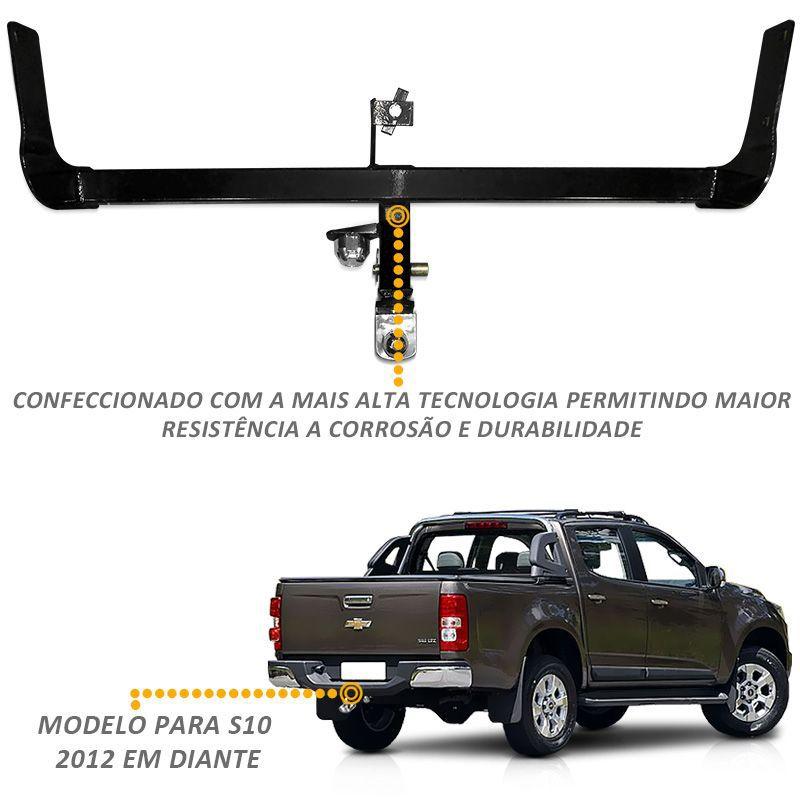Engate Removível Nova S10 2012 a 2020 Tração até 1500kg
