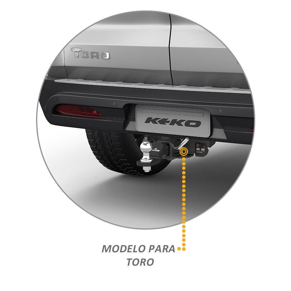 Engate Reboque Fiat Toro 2016 a 2019 Keko K1 450 kg Removivel