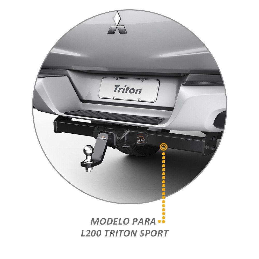 Engate Reboque L200 Triton Sport 2017 a 2019 Keko 1500kg Removivel