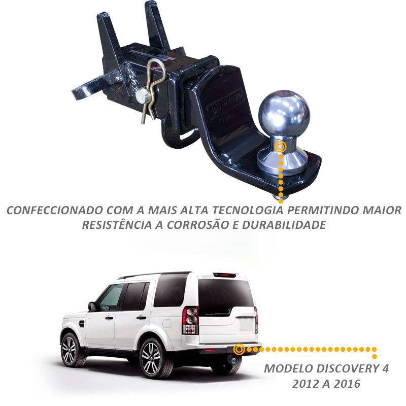 Engate Reboque Removivel  Land Rover Discovery 4 700kg