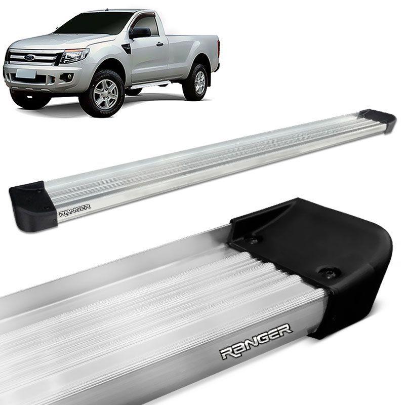 Estribo Lateral Ranger CS 2013 a 2020 Aluminio Prata Anodizado
