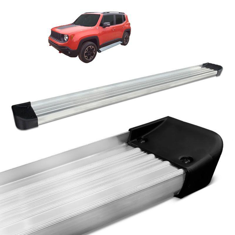 Estribo Lateral Jeep Renegade 2016 a 2020 Alumínio Prata CK