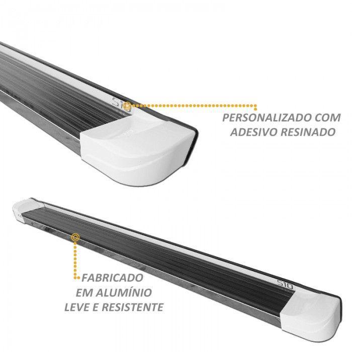 Estribo Lateral S10 CD 2012 a 2020 Branco Personalizado CK