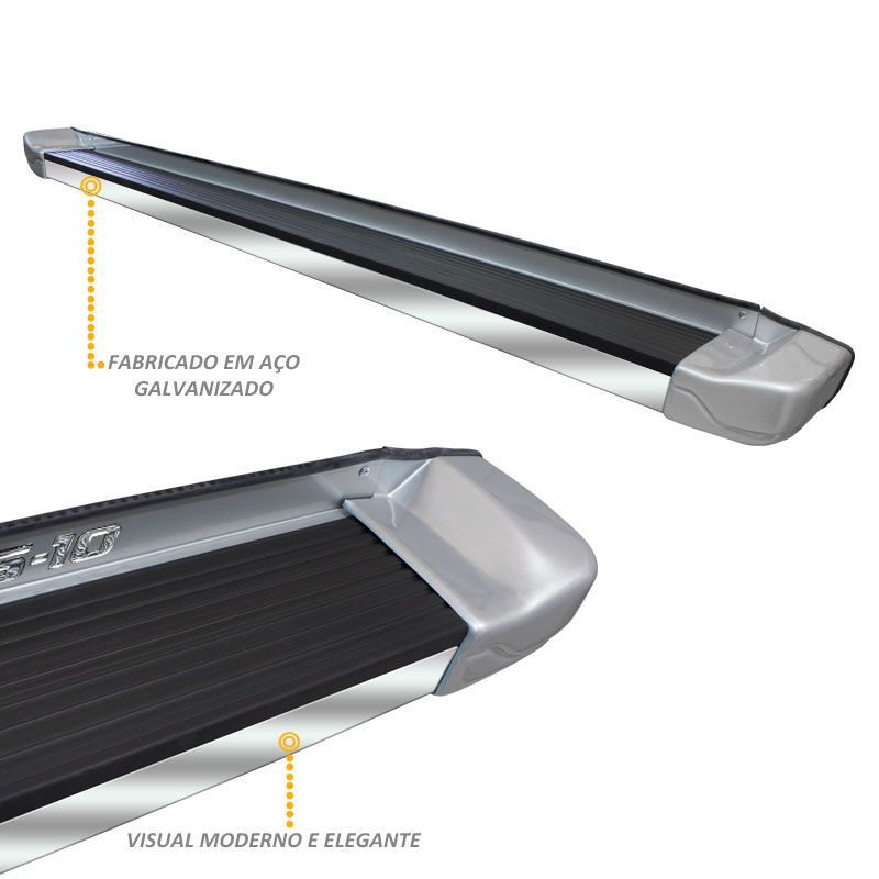 Estribo Lateral S10 1996 a 2011 Prata Polaris Stribus