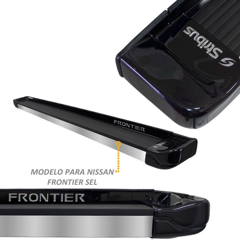 Estribo Lateral Frontier 2008 a 2016 Preto Premium Stribus