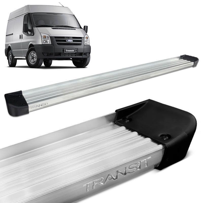 Estribo Lateral Ford Transit Curta 2009 a 2013 Aluminio Prata