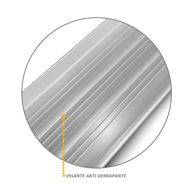 Estribo Lateral Nova Hilux 2016 em Aluminio Prata