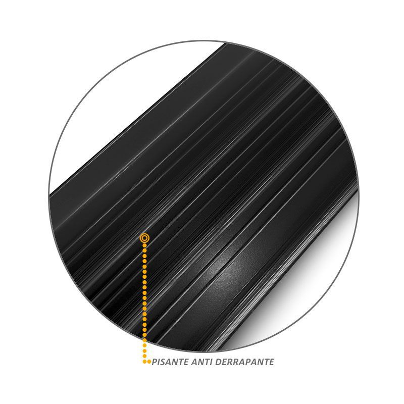 Estribo Lateral Nova Hilux 2016 em Aluminio Preto