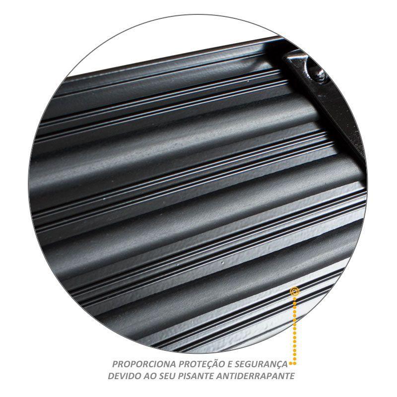 Estribo Lateral Amarok 2011 a 2016 Aluminio Preto Mystic Antiderrapante