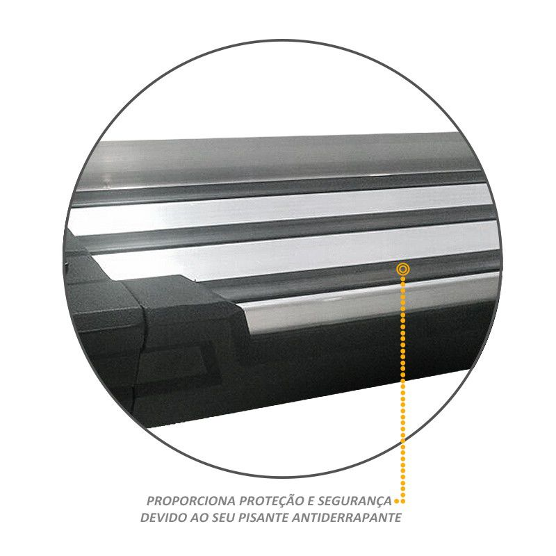 Estribo Lateral Amarok 2010 a 2020 Off-Road Alumínio Polido Stribus