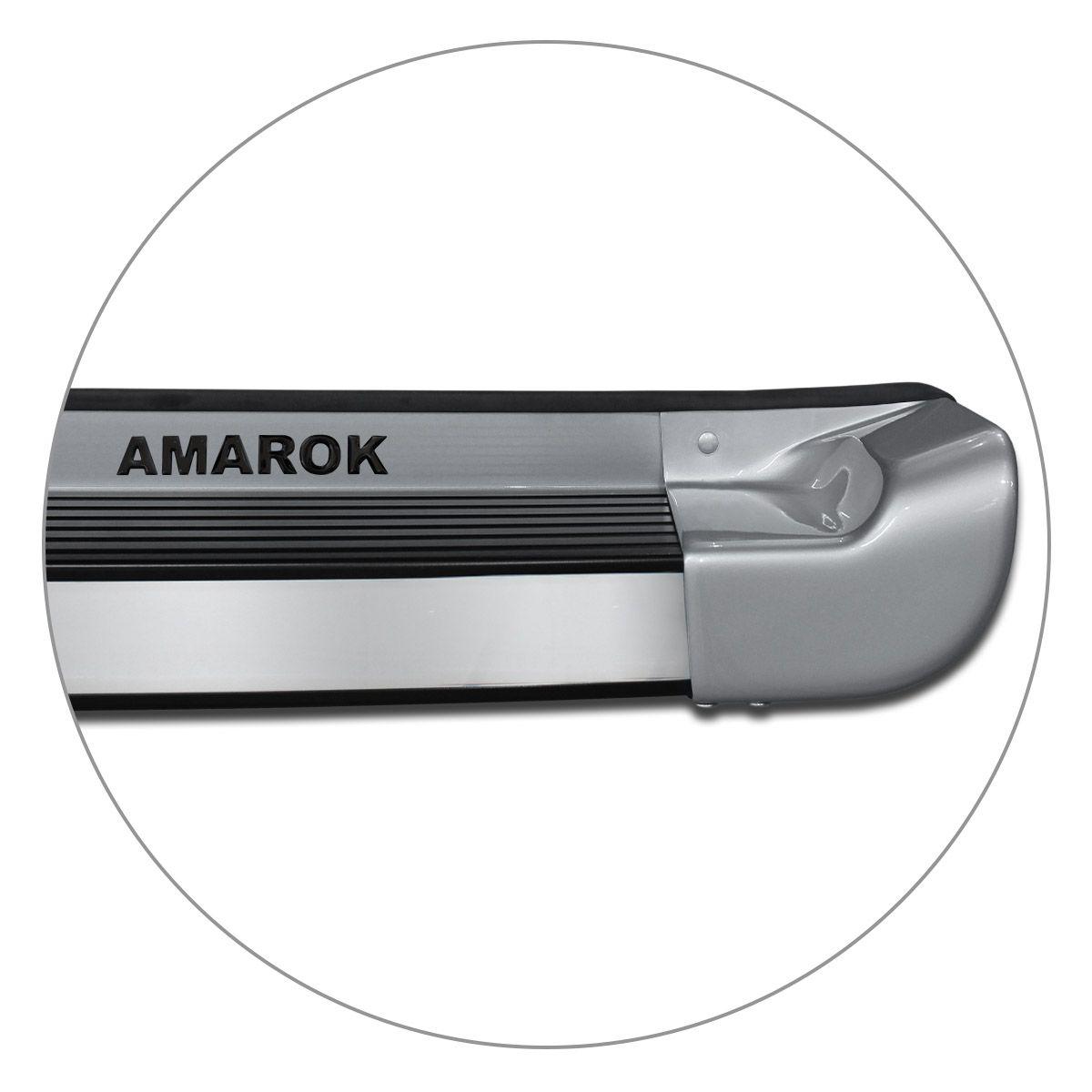 Estribo Lateral Amarok CD 2010 a 2019 Prata Sargas Personalizado