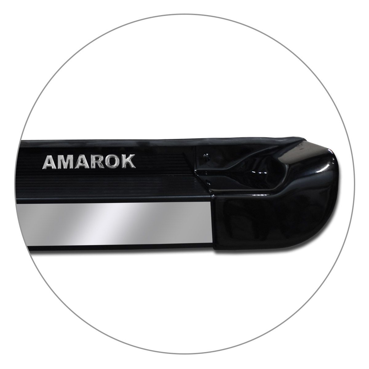 Estribo Lateral Amarok CD 2010 a 2019 Preto Mystic Personalizado