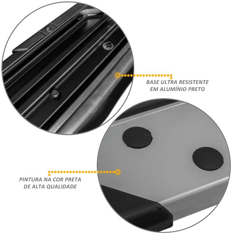 Estribo Lateral Ecosport 2013 a 2018 Aluminio Prata Bepo