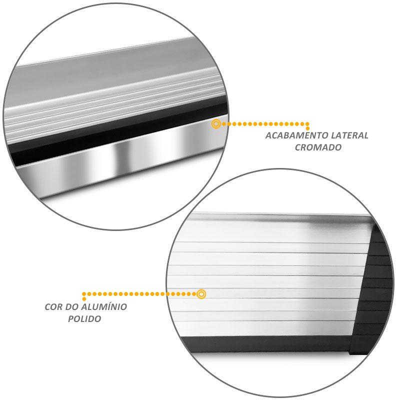 Estribo Lateral Oroch 2016 a 2018 Aluminio Prata Elegance Bepo
