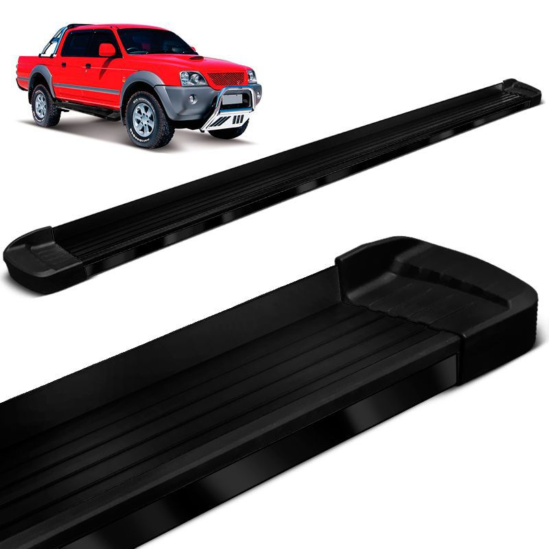 Estribo Lateral L200 Sport Outdoor 2006 a 2012 Preto Bepo