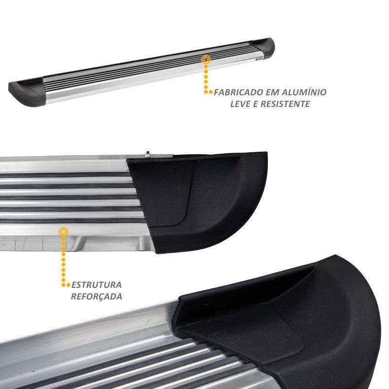 Estribo Lateral L200 Triton 2008 a 2018 Aluminio Polido G2 Bepo