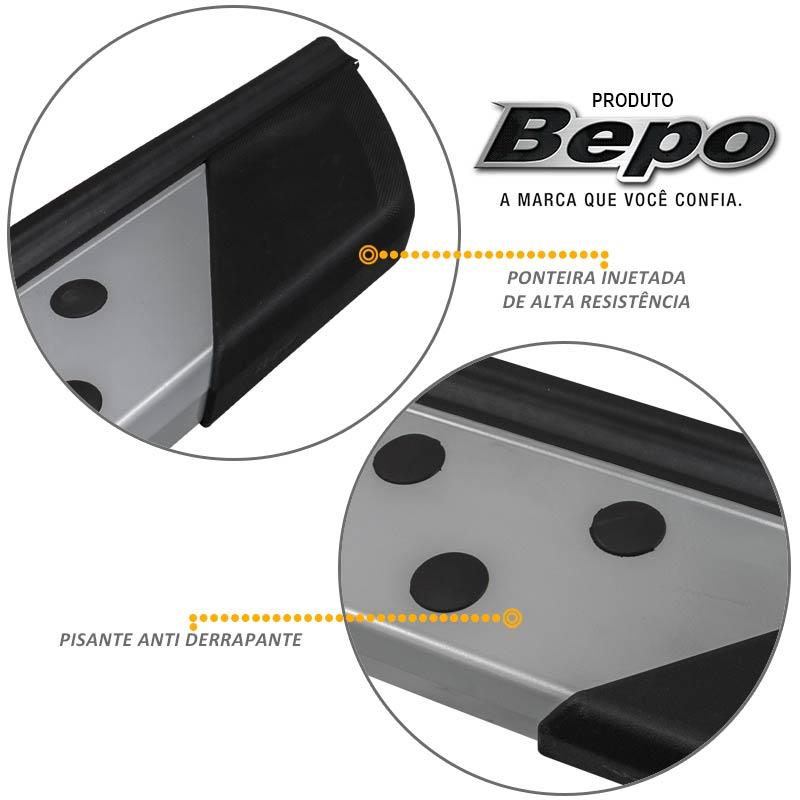 Estribo Lateral Honda CRV 2008 a 2015 Aluminio Prata Bepo