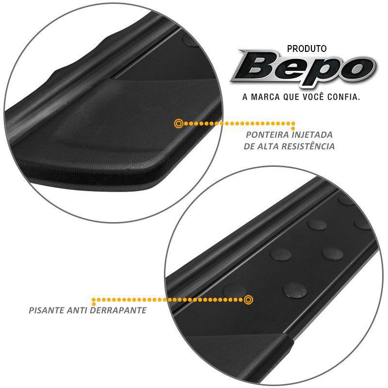 Estribo Lateral Honda CRV 2008 a 2015 em Aluminio Preto Bepo