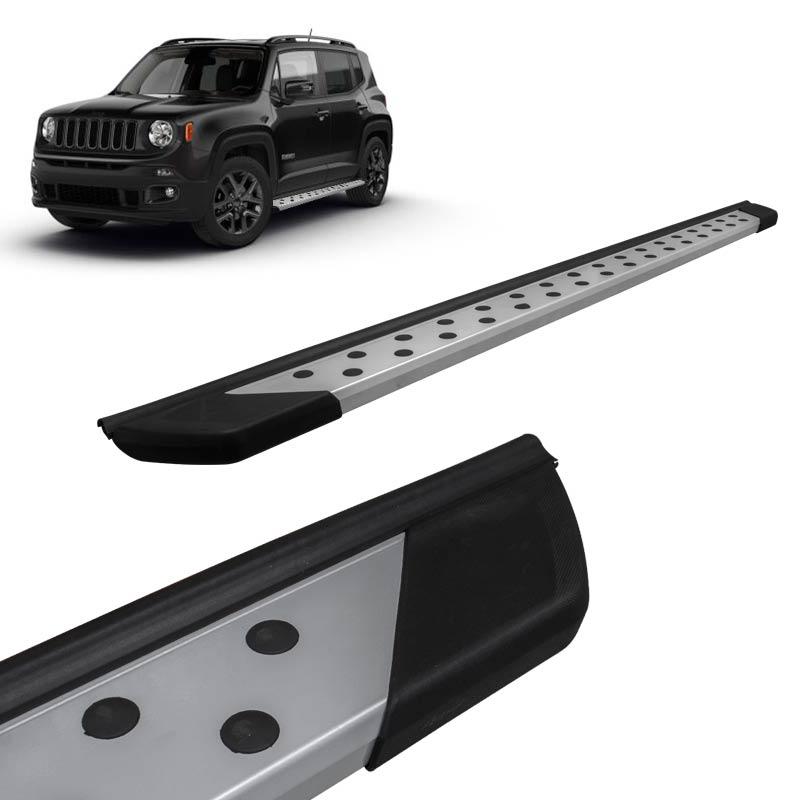 Estribo Lateral Jeep Renegade 2015 a 2018 Aluminio Prata Bepo